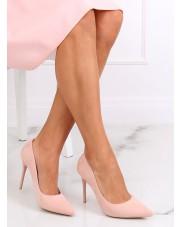 Czółenka na szpilce zamszowe różowe LE07P PINK