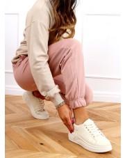 Buty na wysokiej podeszwie beżowe LA158 BEIGE