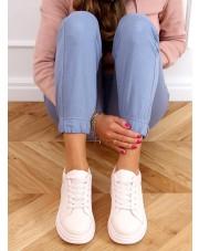 Buty na wysokiej podeszwie różowe LA158 PINK