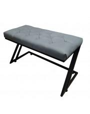Ławka metalowa Industrialna tapicerowana styl loft kolor szary