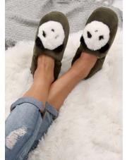 Kapcie damskie panda zielone DN2123 ZIELONY
