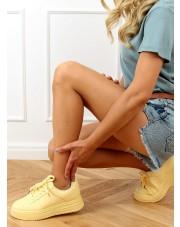 Buty sportowe damskie żółte G191 YELLOW