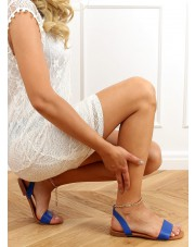 Sandałki z łańcuszkiem chabrowe HY23-11 BLUE